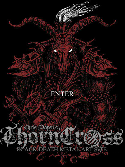 Chris Moyen's Thorncross - Black Death Metal Art